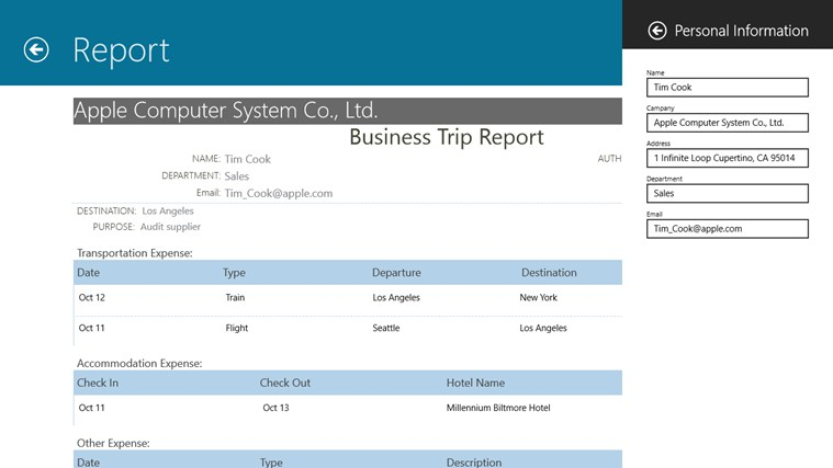 Business Trip screen shot 3