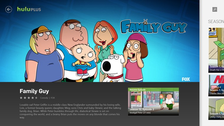 Hulu Plus screen shot 1