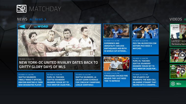 MLS MatchDay screen shot 1