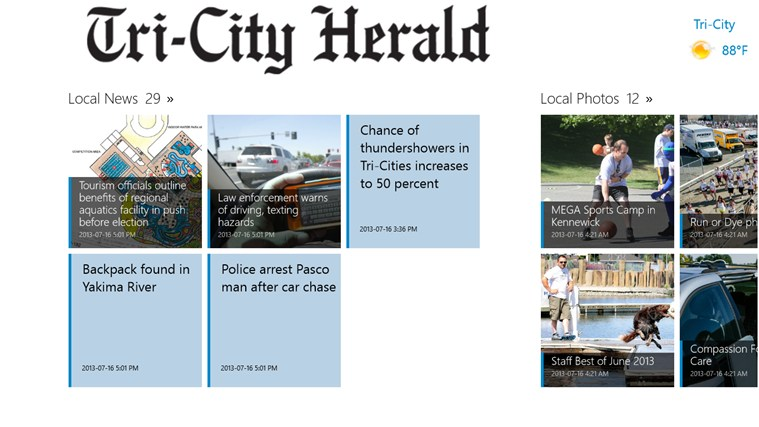 Tri-City Herald screen shot 1