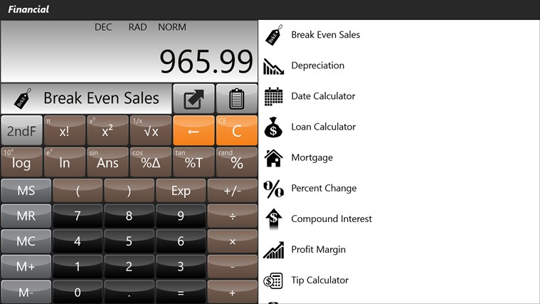 Calculator - Calc Pro HD screen shot 3