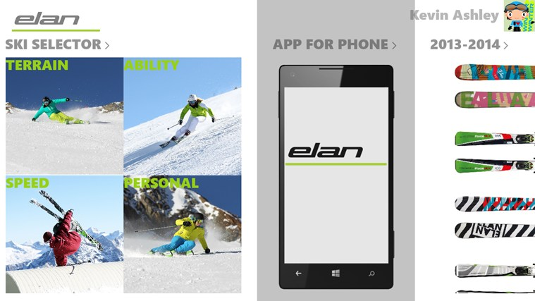Elan Skis screen shot 1