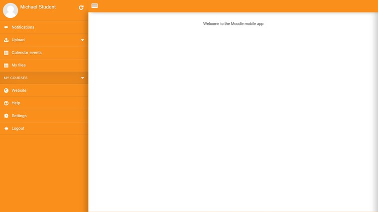 Moodle Mobile screen shot 1