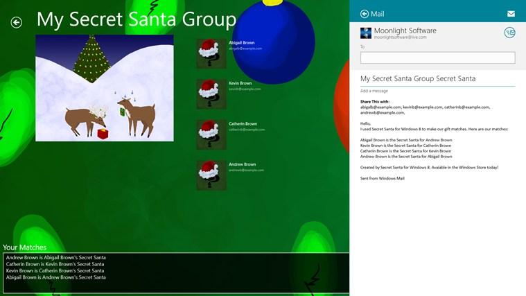 Secret Santa screen shot 1