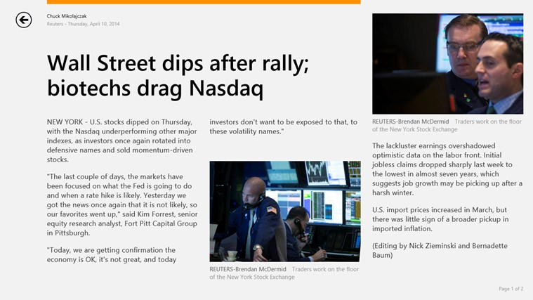 Reuters screen shot 3