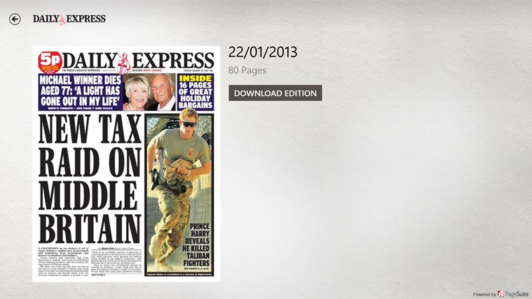 Daily Express screen shot 1