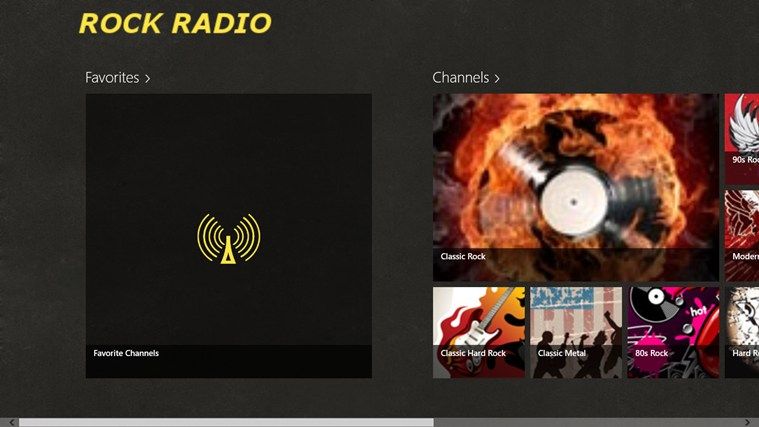 RockRadio screen shot 1