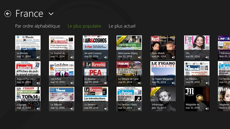 PressReader capture d'écran 1