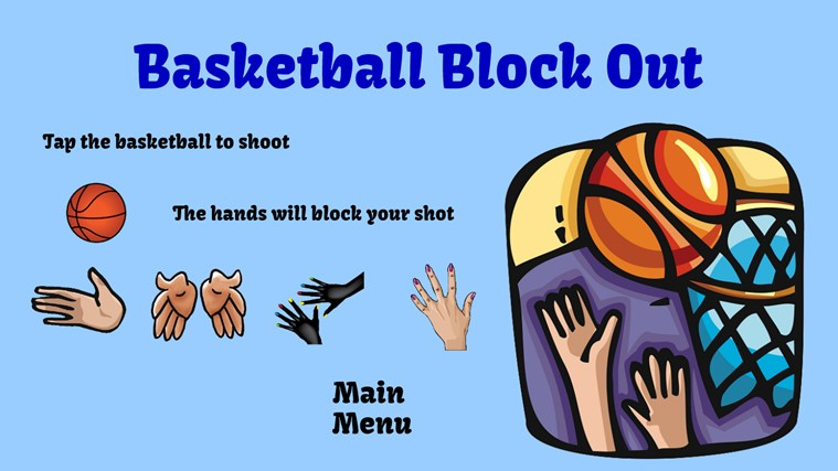 Basketball Block Out screen shot 1