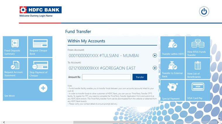 HDFC Bank screen shot 3