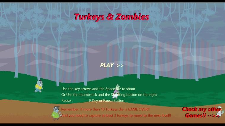 Turkeys & Zombies screen shot 1