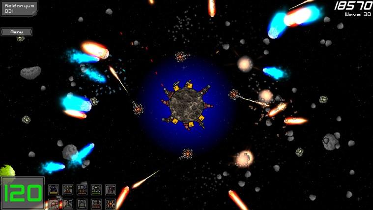 Planetoid Defense screen shot 1
