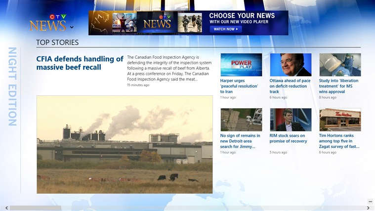 CTV News screen shot 1