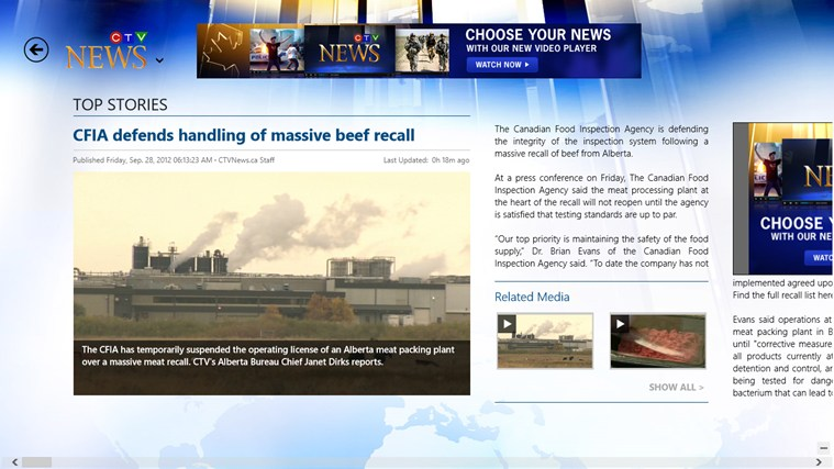 CTV News screen shot 3