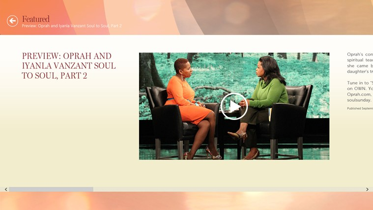 Oprah Winfrey Network screen shot 1
