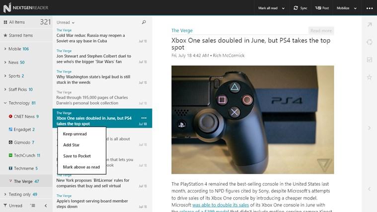 Nextgen Reader Screenshot 3