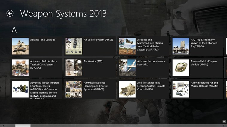Army Weapon Systems Handbook screen shot 3