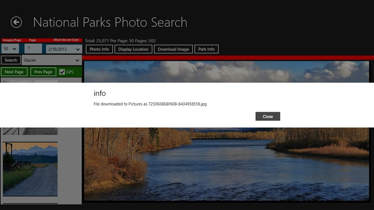 National Parks Photo Search screen shot 5