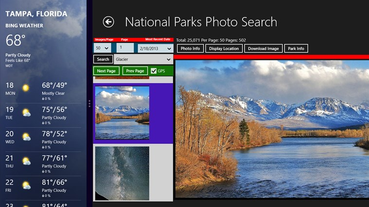 National Parks Photo Search screen shot 7