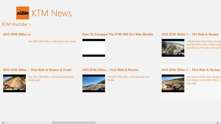 KTM News screen shot 1