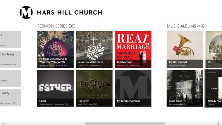 Mars Hill Church screen shot 1