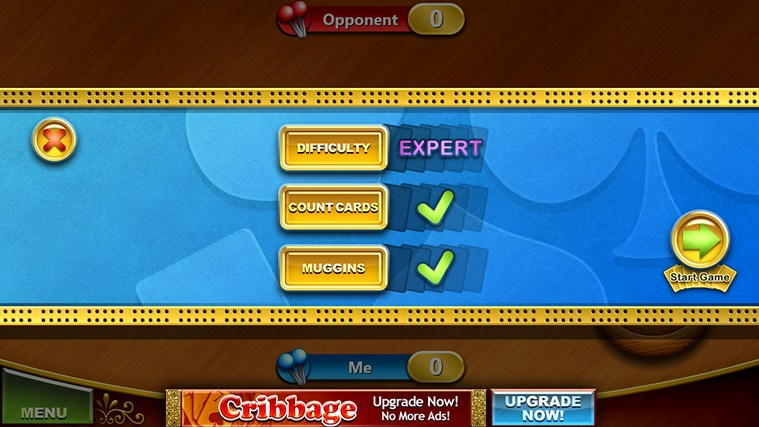 Cribbage Free screen shot 1