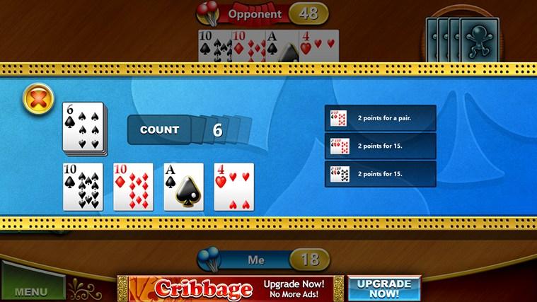 Cribbage Free screen shot 5