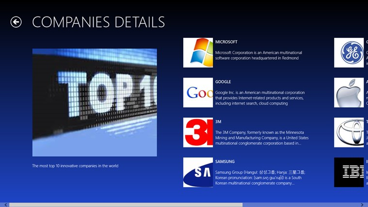 TOP 10 INNOVATIVE COMPANIES IN WORLD screen shot 1