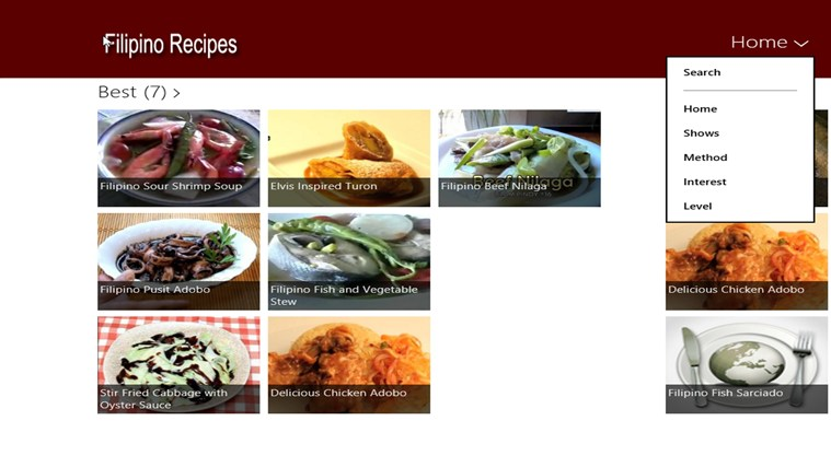 Filipino Recipes screen shot 1
