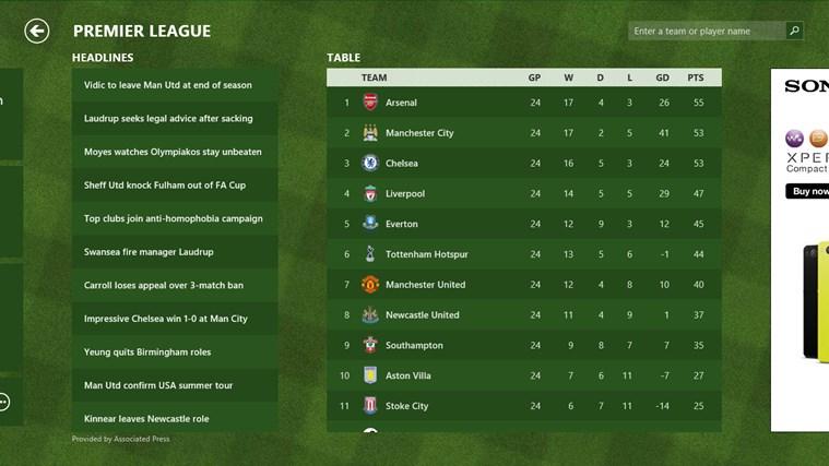 Bing Sport screen shot 5