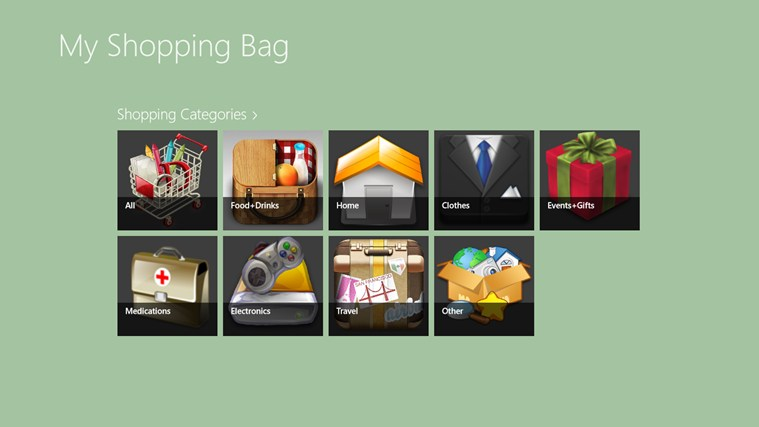 My Shopping Bag screen shot 1