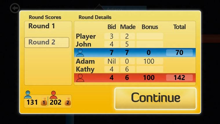 Spades screen shot 1