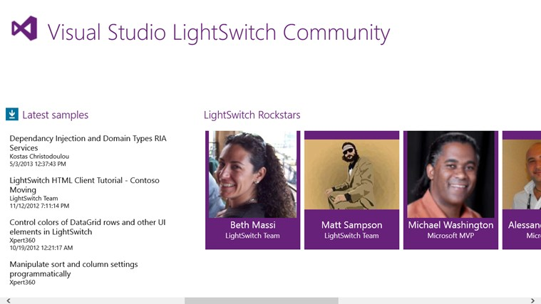 Visual Studio LightSwitch Community screen shot 1