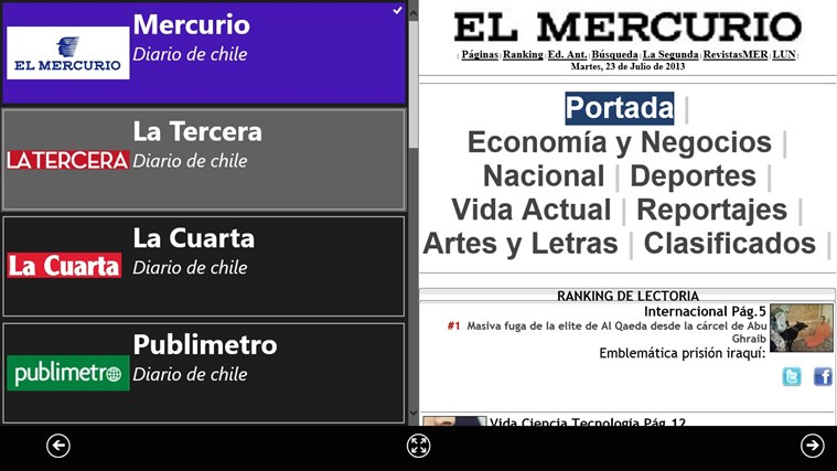Diarios Chile screen shot 1