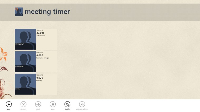 MeetingTimer screen shot 1