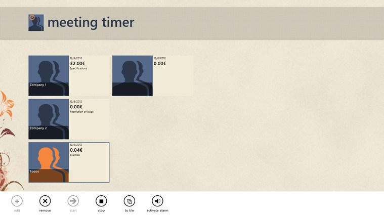 MeetingTimer screen shot 3