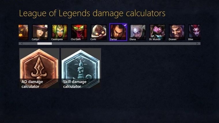 League of Legends damage calculator gabháil scáileáin 1