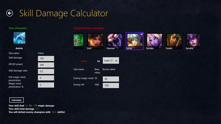 League of Legends damage calculator gabháil scáileáin 3