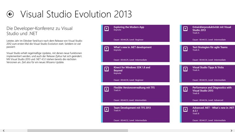 Visual Studio Evolution Screenshot 1