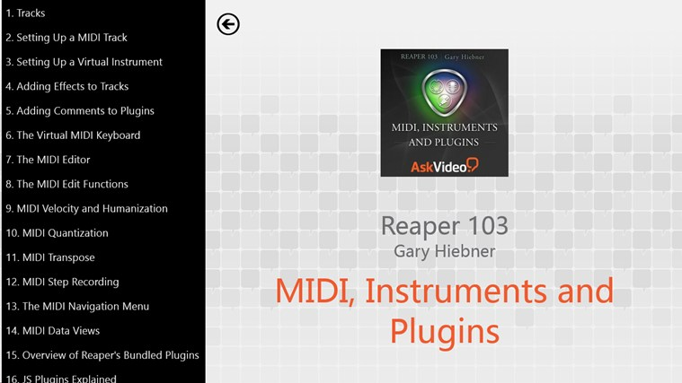 Reaper: MIDI, Instruments and Plugins zrzut ekranu 1