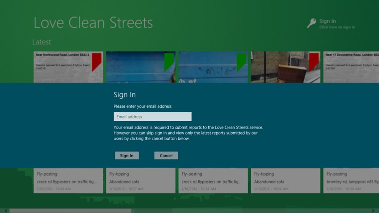 Love Clean Streets screen shot 1