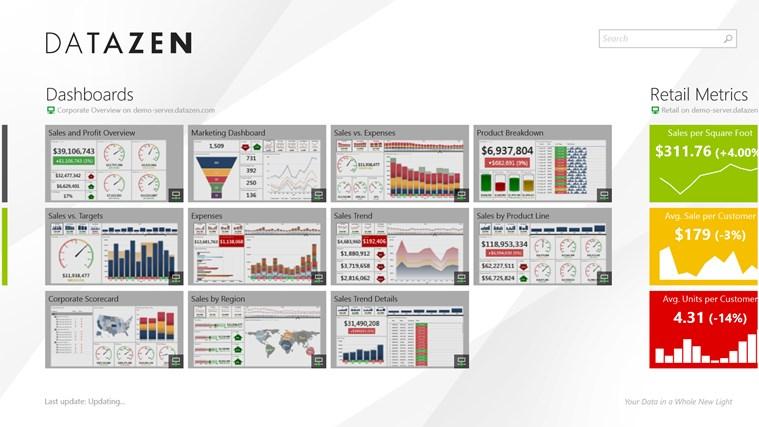 Datazen screen shot 1