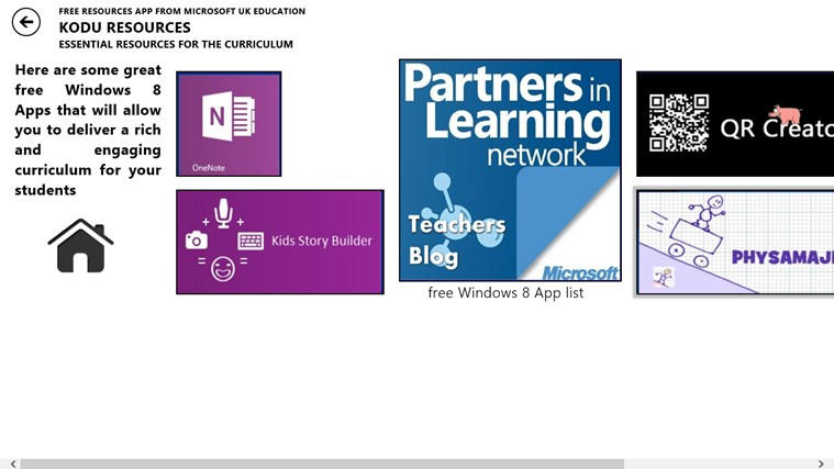 Free Resources from Microsoft UK Education screen shot 1
