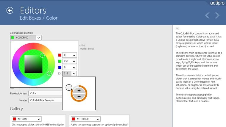 Actipro WinRT XAML Controls سکرین شاٹ 1