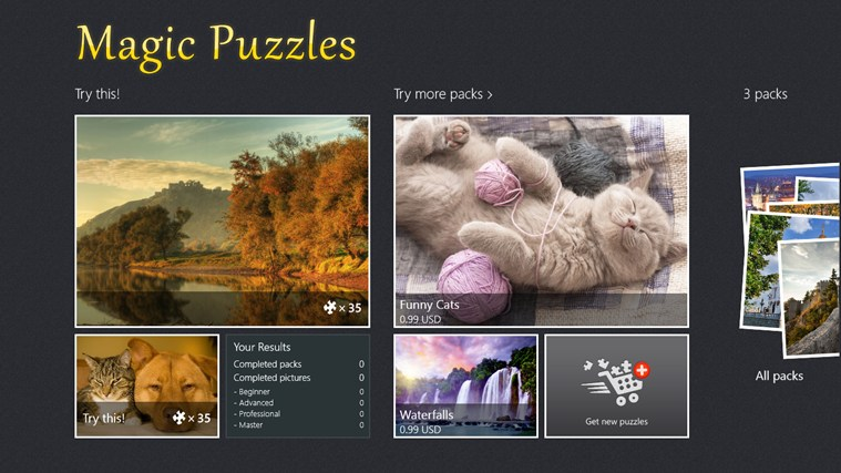 Magic Jigsaw Puzzles screen shot 1