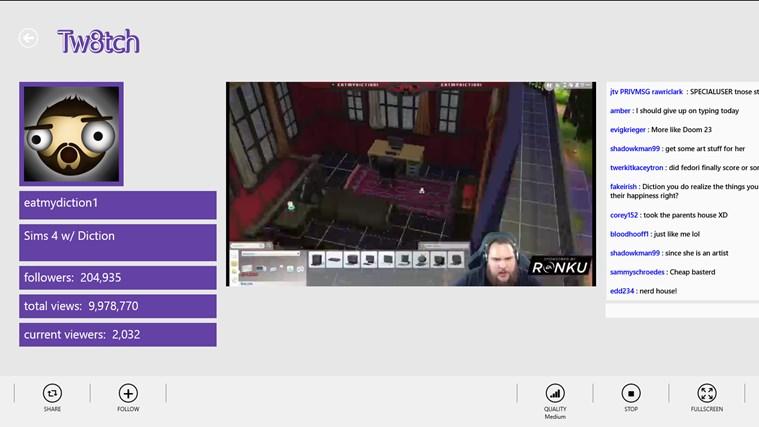 Tw8tch screen shot 3