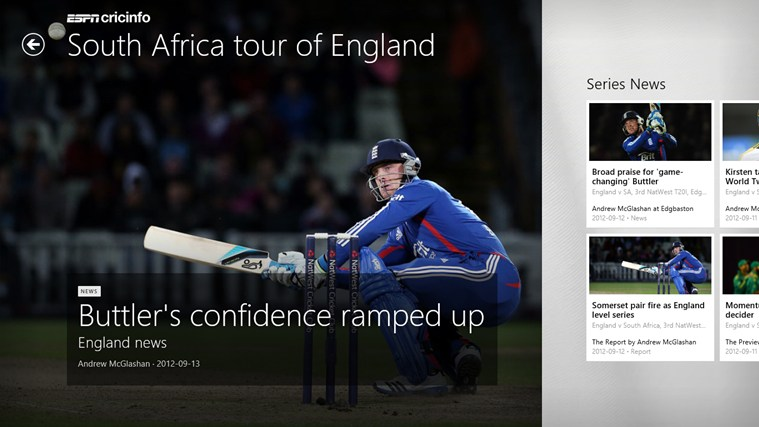 ESPN Cricinfo screen shot 7