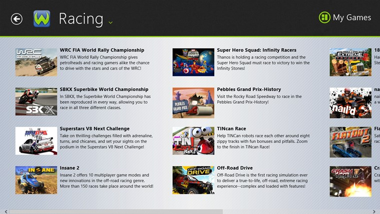 - Games App - screen shot 1