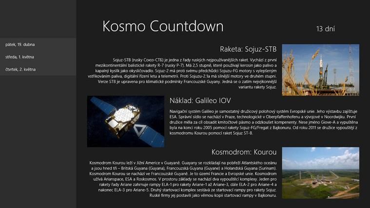Kosmo Countdown snímek obrazovky 1