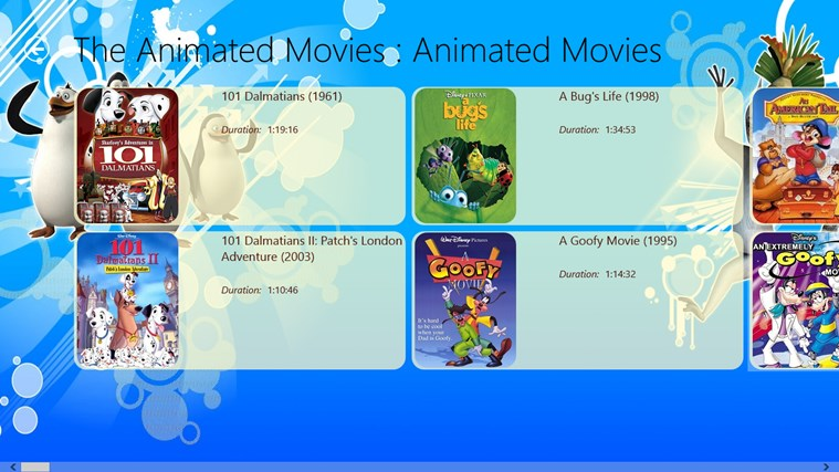 Animated Movies - Fun Unlimited screen shot 1